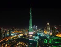 Burj Khalifa Dubai U0027s Burj Khalifa Goes Green On Pakistan U0027s 70th Independence