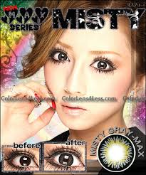 misty gray color contact lens pair g301gy 24 99 halloween