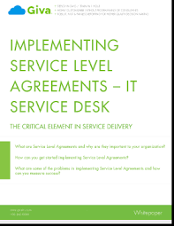 what is service desk implementing service level agreements it service desk giva