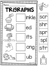 3 letter blends trigraphs worksheets u0026 activities no prep