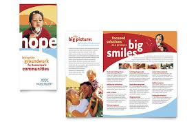 Volunteer Brochure Template by Non Profit Tri Fold Brochure Templates