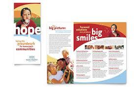 volunteer brochure template non profit tri fold brochure templates