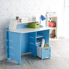 Desks For Kids by Legare 43 In Desk With Shelf And File Cart Blue And White