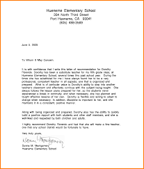 Internship Recommendation Letter Template by 9 How To Write A Recommendation Letter For A Student Sample Of
