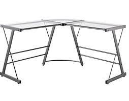 Black Glass L Shaped Computer Desk Top 5 Best Glass Computer Desks In 2017