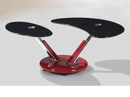 red and black coffee table red high gloss adjustable black glass coffee table homegenies