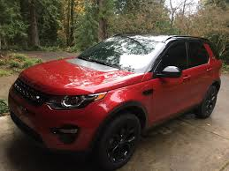 land rover discovery 2016 red added roof rails land rover discovery sport forum