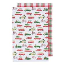 now designs kitchen towels now designs holiday car tea towels set 2 typo market