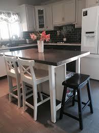used kitchen island kitchen stenstorp kitchen island in white with oak top height