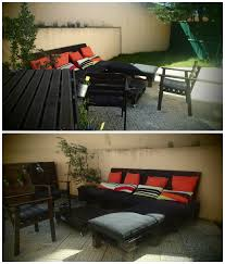 Pallet Patio Furniture Cushions by Patio Furniture Made From Old Pallets U2022 1001 Pallets