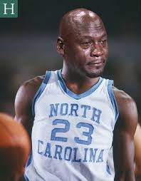 Unc Basketball Meme - michael jordan watched unc lose the ncaa title game and well you