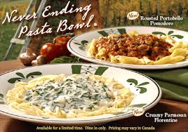 Olive Garden Never Ending Pasta Bowl Is Back - review and giveaway olive garden never ending pasta bowl bees