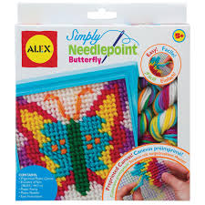 alex toys craft simply needlepoint butterfly kit alexbrands com