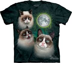 Wolf T Shirt Meme - themountain com three grumpy cat moon t shirt 22 00 http