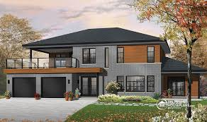 bi level house plans with attached garage plan of the week contemporary bi generational drummond house