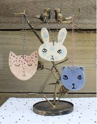 handmade ceramic cat ornaments i cat
