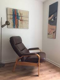 Reclining Arm Chairs Design Ideas Vintage Mid Century Scandinavian Leather Recliner Arm Chair And