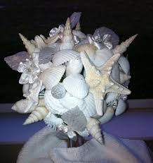 Seashell Bouquet All White Beach Wedding Seashell Bouquet Bride Bridesmaids Beach