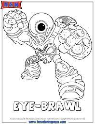 Coloriage Skylanders Giants Eye Brawl New Skylanders Coloring Pages