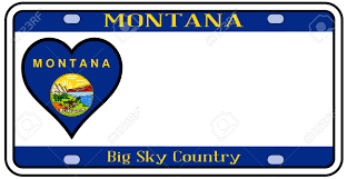 Montana Flag Montana State License Plate In The Colors Of The State Flag With