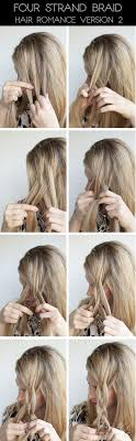 hair braiding styles step by step hairstyle tutorial four strand braids and slide up braids hair