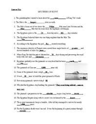 mysteries of egypt video worksheet with answer key by the