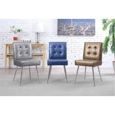 Tufted Upholstered Chairs Ave Six Amity Sizzle Copper Fabric Tufted Dining Chair Amtd S53