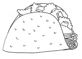 mexican taco junk food coloring page download u0026 print online