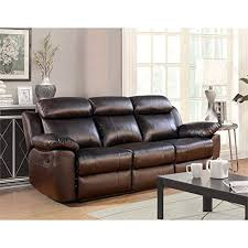 abbyson living bradford faux leather reclining sofa amazon com abbyson living brody top grain leather reclining sofa in