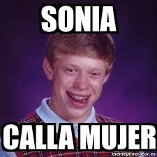 Sonia Meme - meme bad luck brian sonia calla mujer 16483155