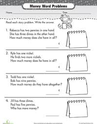 penny nickel dime word problems word problems worksheets and