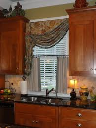kitchen elegant kitchen window treatment ith double window sill