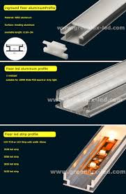 inground floor aluminium led extrusion profile for led strip light