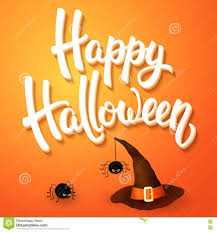 halloween witch background halloween greeting card with witch hat angry spiders and 3d brush