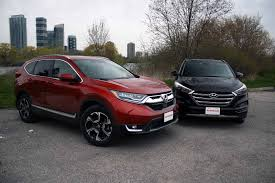 hyundai tucson night 2017 honda cr v vs hyundai tucson comparison autoguide com news