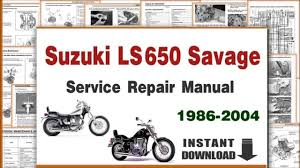 download suzuki ls650 savage service repair manual 1986 2004 pdf