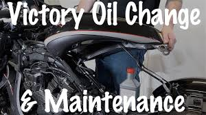 how to do routine maintenance oil change on victory motorcycle 106