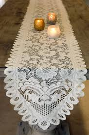ivory lace table runner table runner lace ivory 13 x 96 inches walmart com