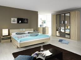 photo chambre adulte chambre adulte contemporaine coloris chêne clair gris valencia