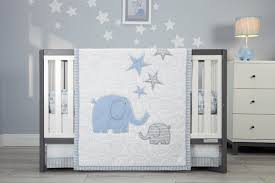 Zutano Crib Bedding Zutano Elefant Blau 4 Crib Bedding Set Reviews Wayfair