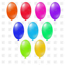 oval colored balloons vector image 67649 u2013 rfclipart