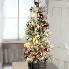 tabletop trees wreaths artificial decorated