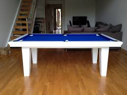 Pool Dining Table by Pool Dining Table In White Blue Snooker U0026 Pool Tables