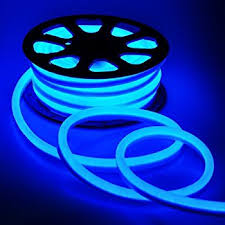 led neon rope light 50ft blue for outdoor or