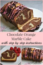 chocolate orange marble cake recipe april j harris