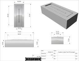 Linear Fire Pit by Fire Pit Kits Flame Designz