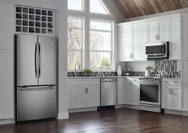 Samsung Cabinet Depth Refrigerator Samsung Rf18hfenbsr 33 Inch Counter Depth French Door Refrigerator