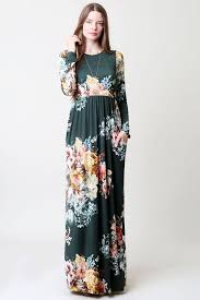 floral maxi dress gozon women s sleeve and neck with pocket floral maxi