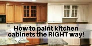 is it better to paint or spray kitchen cabinets how to paint cabinets the right way the flooring