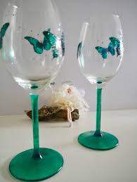 beautiful wine glasses butterfly wine glasses personal gifts lincolnshire dragonfly